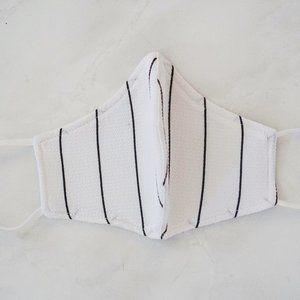 Handmade White Stripe Face Mask